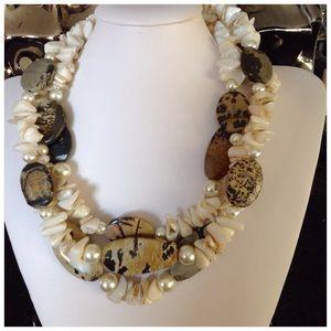 Jewelry - Jasper Seashell Necklace